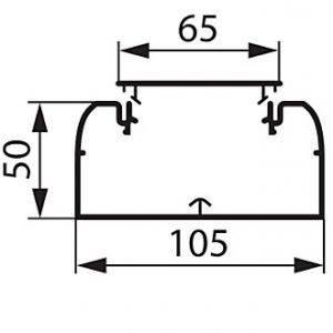 010429 Кабель-канал 105x50, в комплекте с крышкой (цена за 1 метр)-1