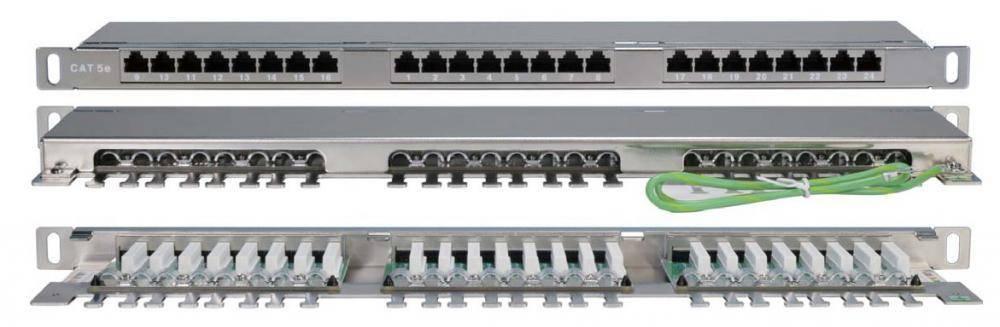 Патч-панель 19 Hyperline PPHD-19-24-8P8C-C5e-SH-110D