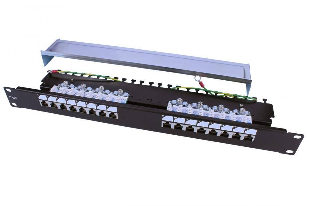 Патч-панель 19 Hyperline PP3-19-16-8P8C-C6-SH-110D