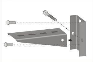 Кронштейн к стене для лотка PNK-100.2