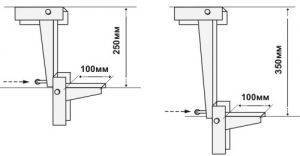 Кронштейн к потолку для лотка PNK-100.450