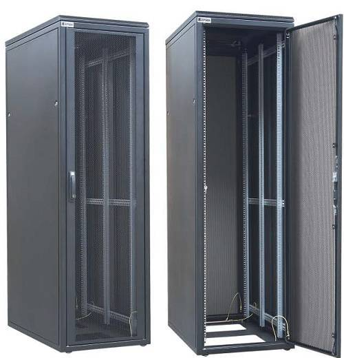 Шкаф телекоммуникационный напольный 19 серверный Zpas WZ-DCI-026-5(77)11-01-0000-2-1