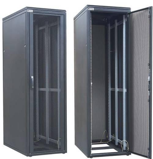 Шкаф телекоммуникационный напольный 19 серверный Zpas WZ-DCI-005-5(77)11-01-0000-2-1
