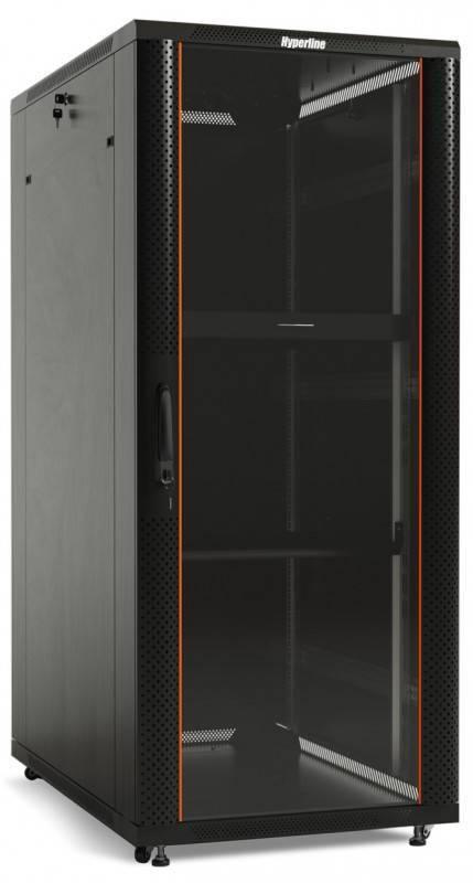 Шкаф телекоммуникационный напольный 19 дюймов Hyperline TTC2-3268-AS-RAL9004