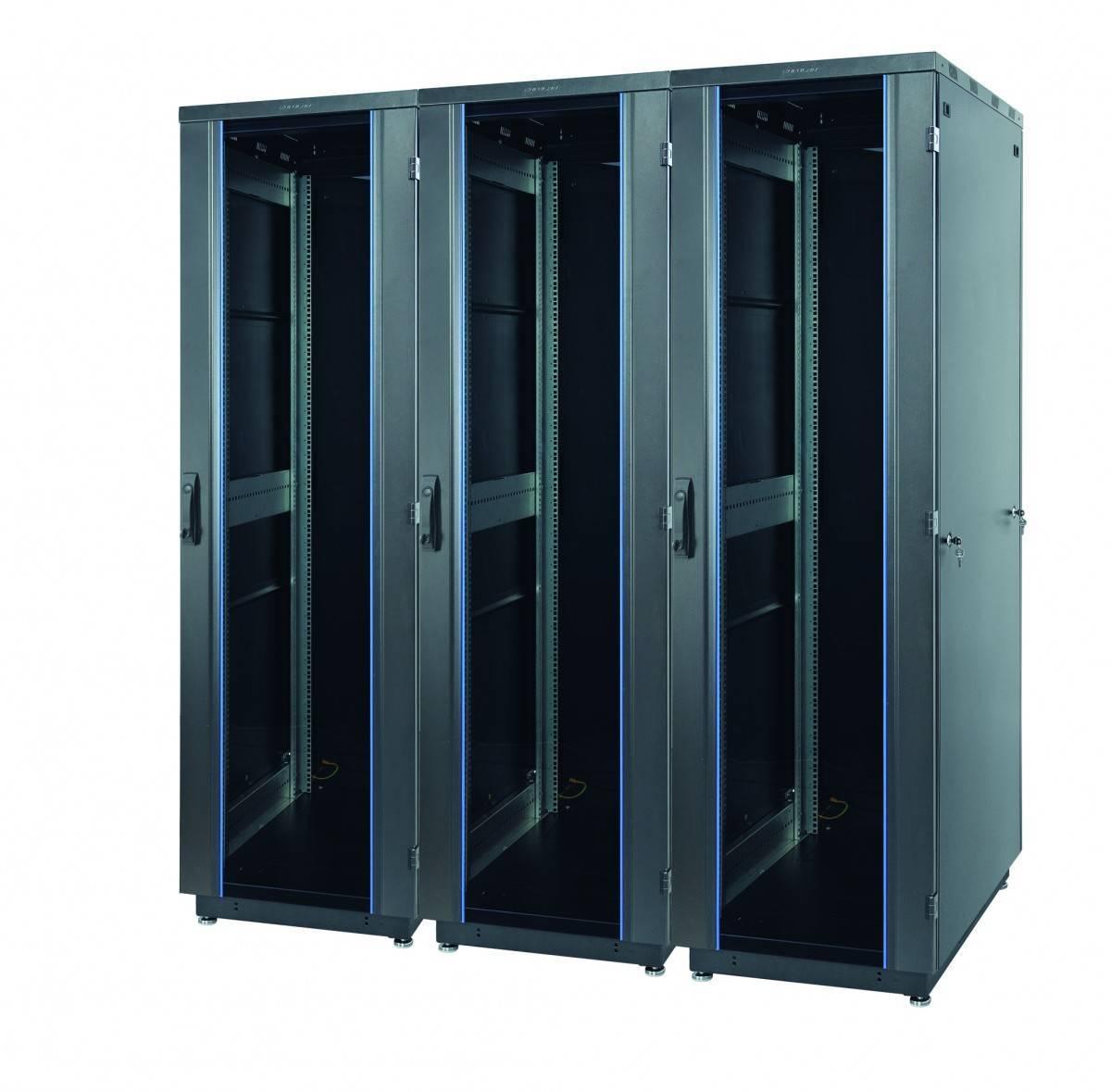 Шкаф телекоммуникационный напольный 19 дюймов Eurolan 60F-33-68-31BL