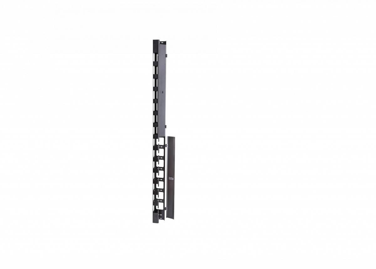 Вертикальный кабельный органайзер Eurolan 60A-18-42-01-31BL