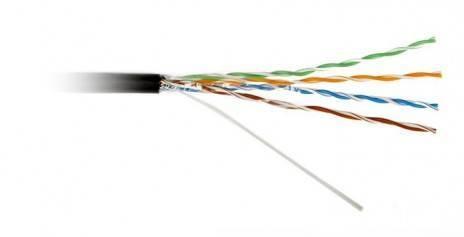Кабель витая пара UTP Hyperline UUTP4-C5e-S22-OUT-PE-BK-1000