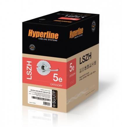 Кабель витая пара STP Hyperline SFUTP4-C5e-P26-IN-LSZH-GY-305
