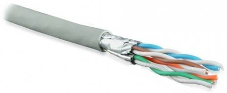 Кабель витая пара FTP Hyperline UFTP4-C6A-S23-IN-LSZH-GY-500