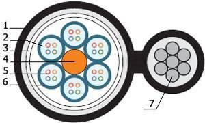 Волоконной-оптический кабель Hyperline FO-SSMT-OUT-9-4-PE-BK