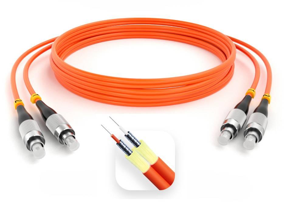 Шнур оптический армированный ARM-2FCFC50-110м-LSZH