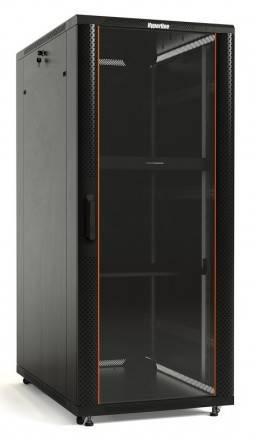 Шкаф телекоммуникационный напольный 19 дюймов Hyperline TTB-1868-AS-RAL9004