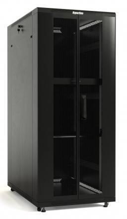 Шкаф телекоммуникационный напольный 19 дюймов Hyperline TTB-1861-DD-RAL9004