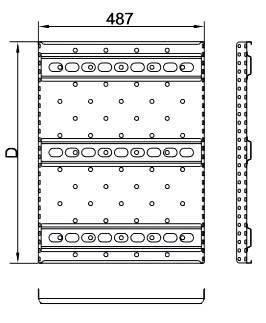 Полка перфорированная Hyperline TSH2-650-RAL9004