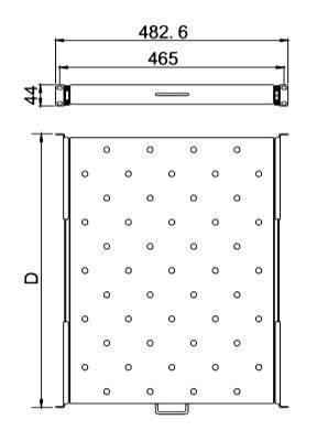 Полка выдвижная 19 HyperlineTSS2-566-RAL9004
