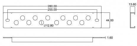 Патч-панль Hyperline PPBL-BNC-10-12BNC