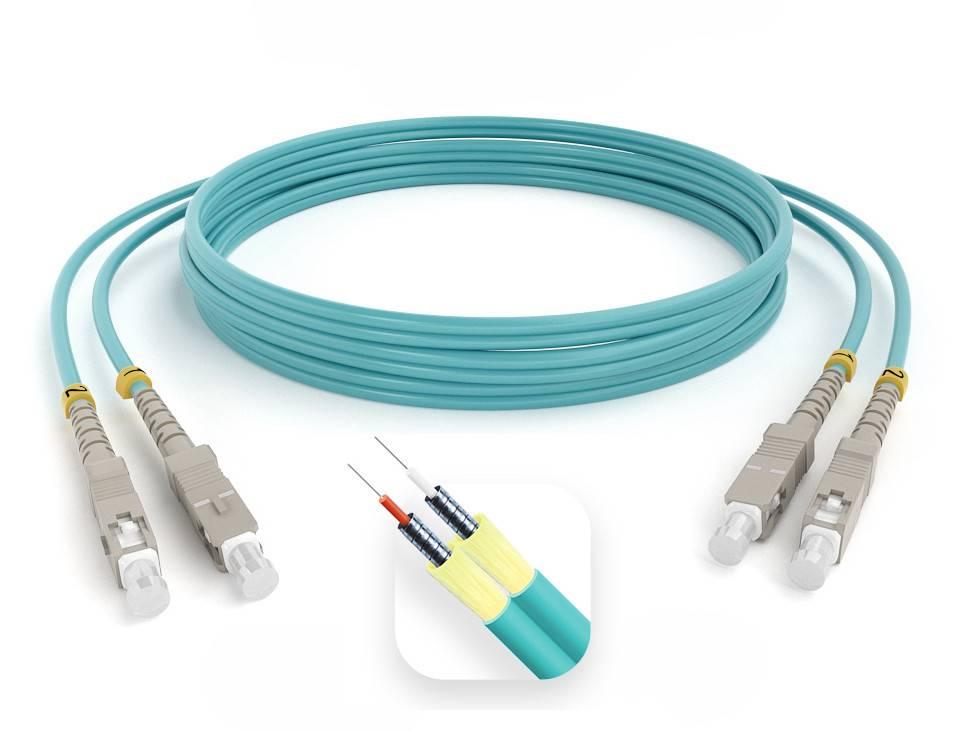 Шнур оптический армированный ARM-2SCSC50-OM3-150м-LSZH