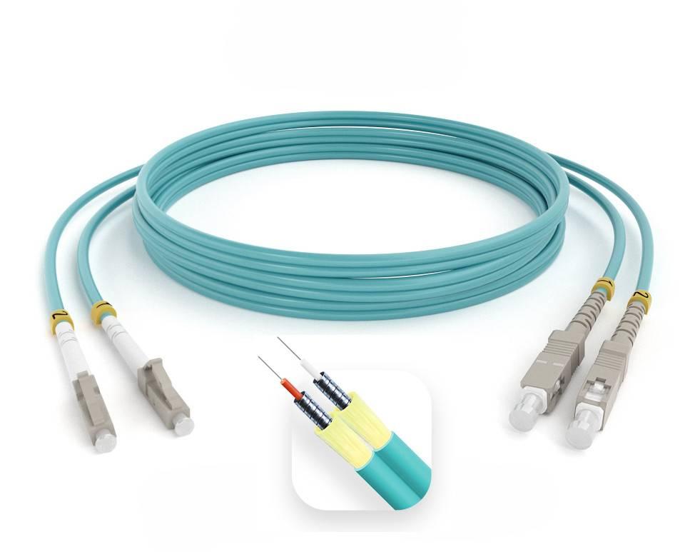 Шнур оптический армированный ARM-2LCSC50-OM3-80м-LSZH