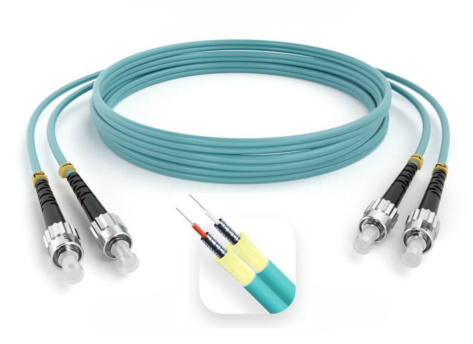 Шнур оптический армированный ARM-2STST50-OM3-85м-LSZH