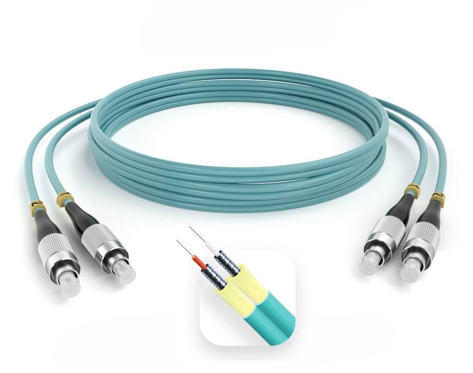 Шнур оптический армированный ARM-2FCFC50-OM3-1.5м-LSZH