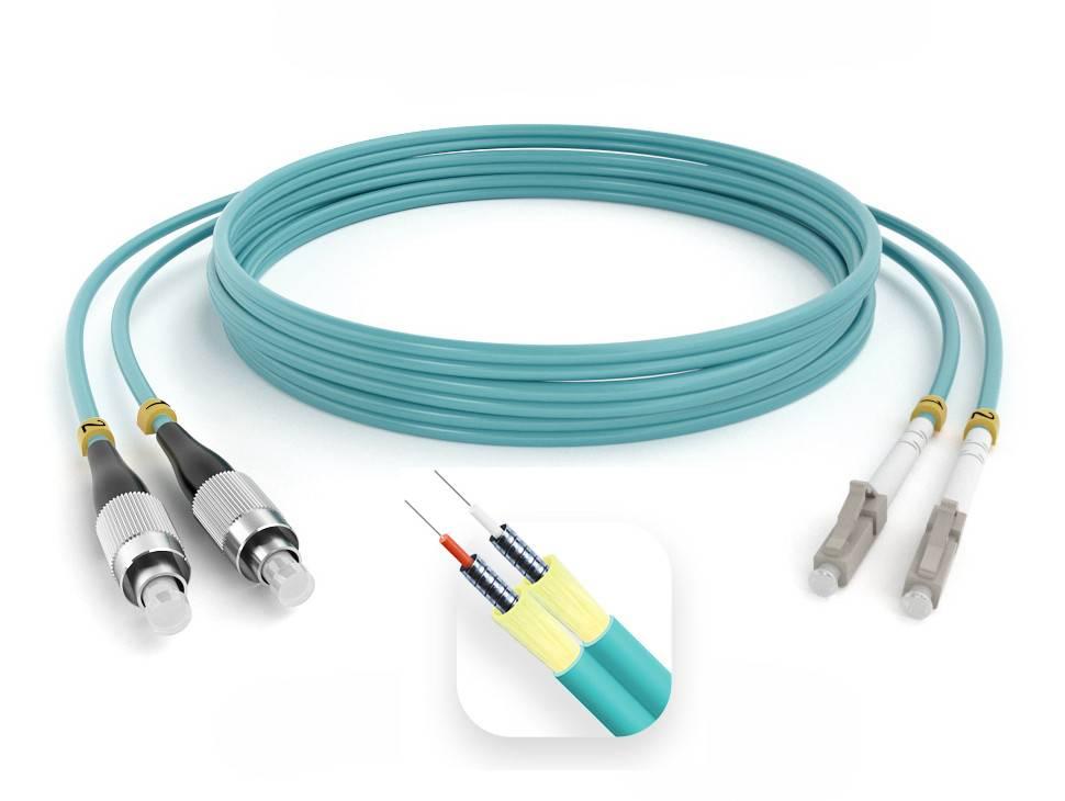 Шнур оптический армированный ARM-2FCLC50-OM3-2м-LSZH