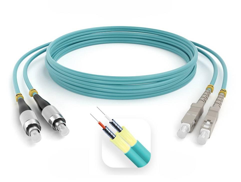 Шнур оптический армированный ARM-2FCSC50-OM3-50м-LSZH