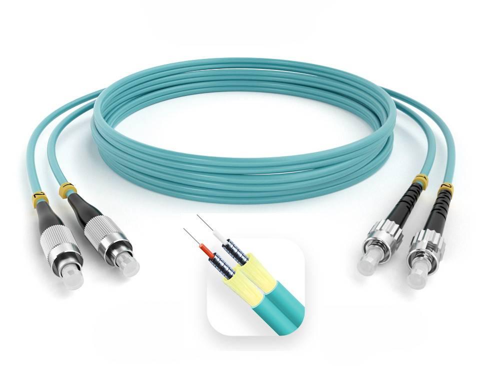 Шнур оптический армированный ARM-2FCST50-OM3-70м-LSZH