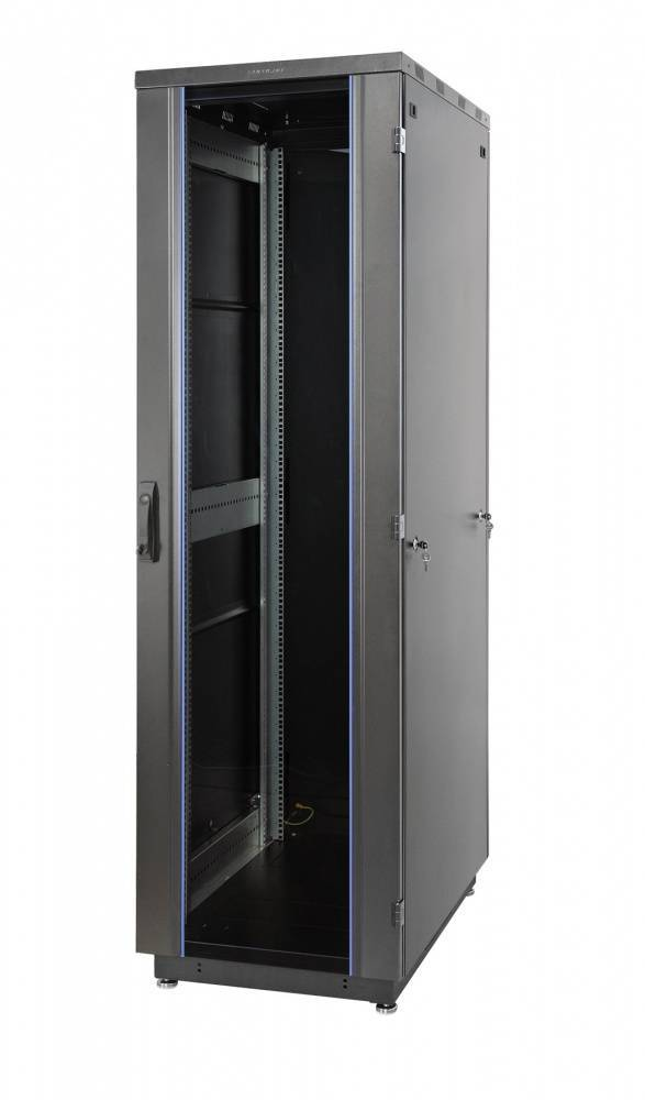 Шкаф телекоммуникационный напольный 19 дюймов Eurolan 60F-42-88-31BL