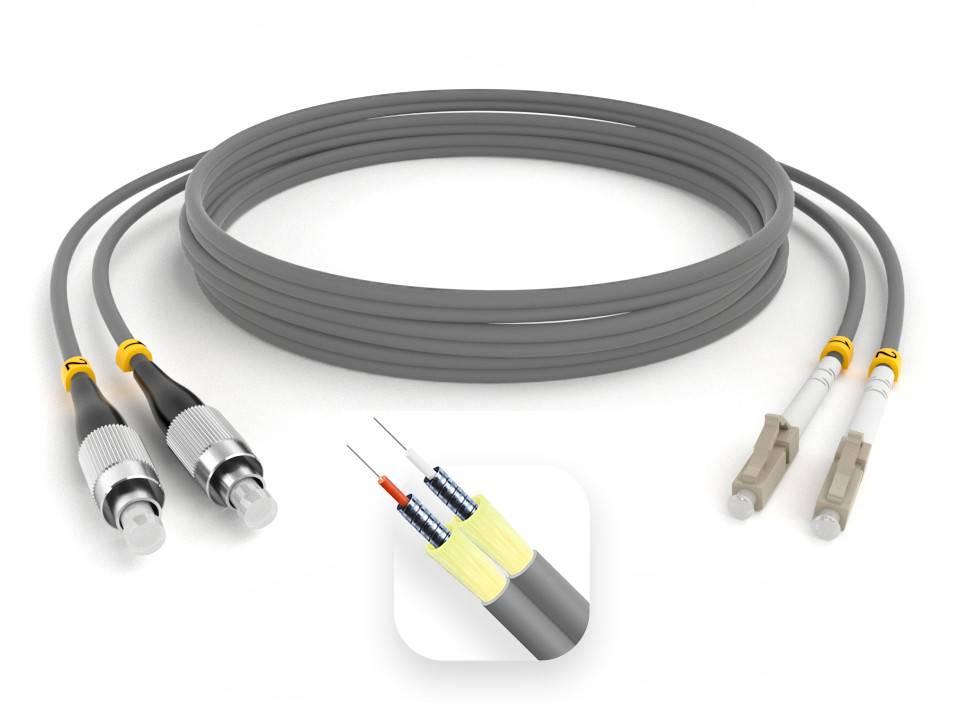 Шнур оптический армированный ARM-2FCLC62,5-110м-LSZH
