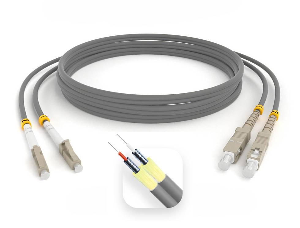 Шнур оптический армированный ARM-2LCSC62,5-90м-LSZH