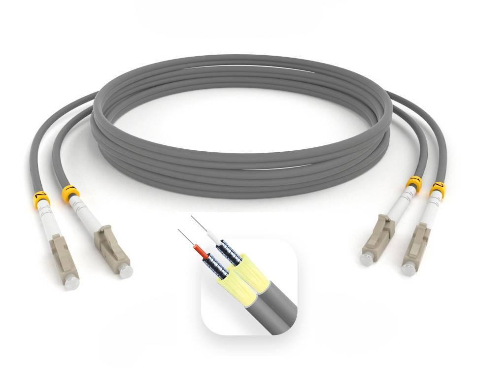 Шнур оптический армированный ARM-2LCLC62,5-55м-LSZH