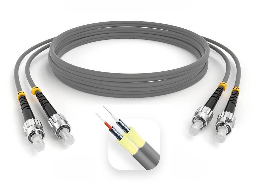 Шнур оптический армированный ARM-2STST62,5-1.5м-LSZH