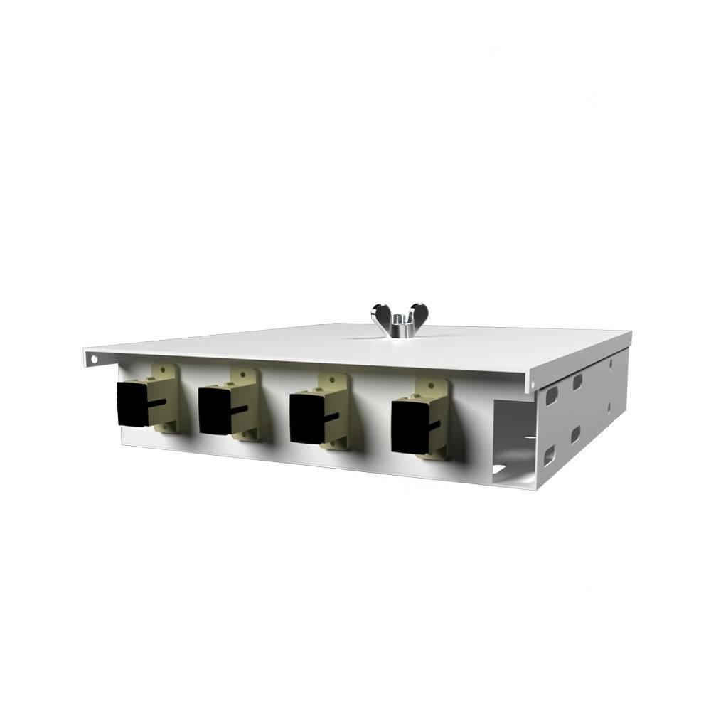 Кросс оптический настенный на 4 порта КН-М-У-4-SC-50/125 (микро)
