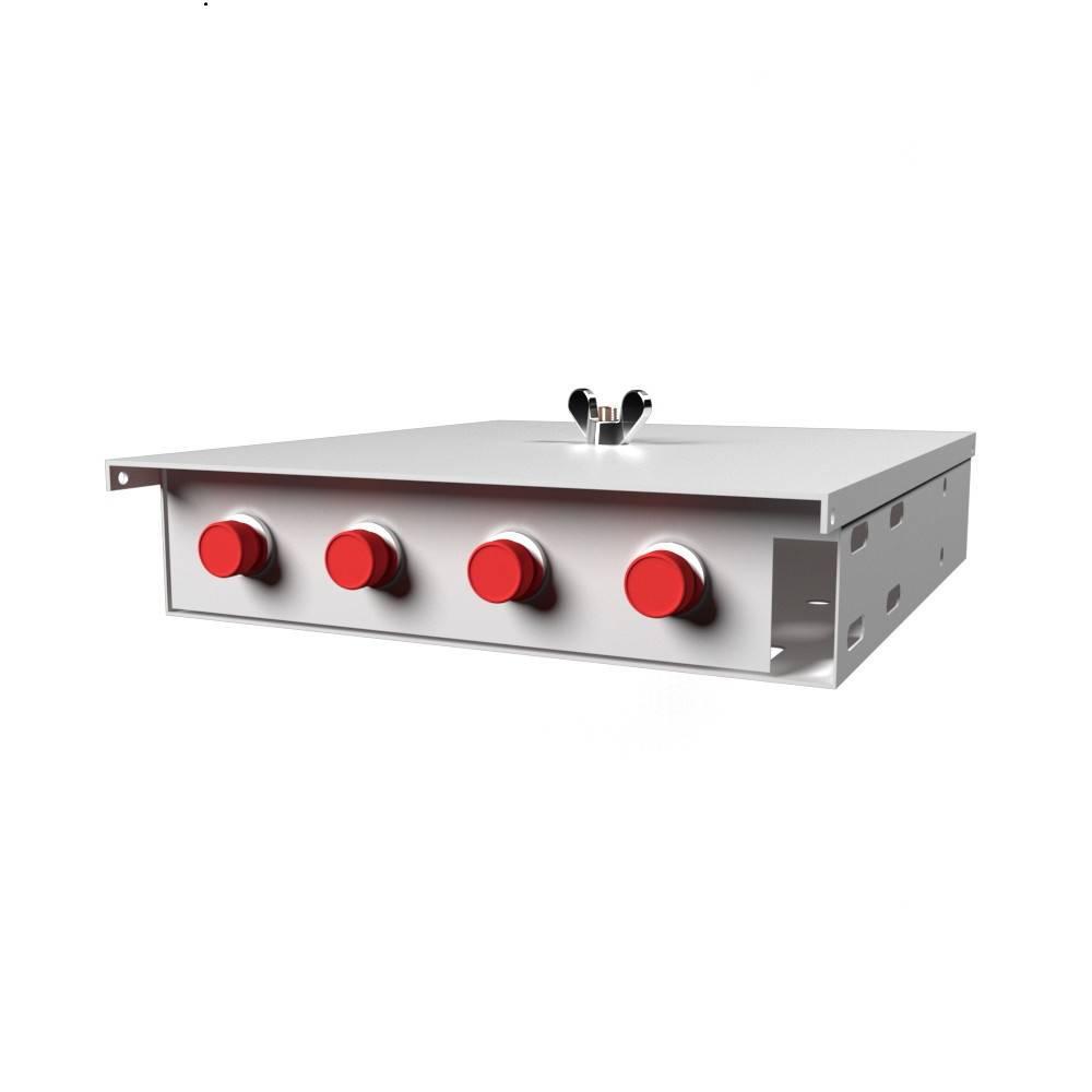 Кросс оптический настенный на 4 порта КН-М-У-4-FC-ОМ3-50/125 (микро)