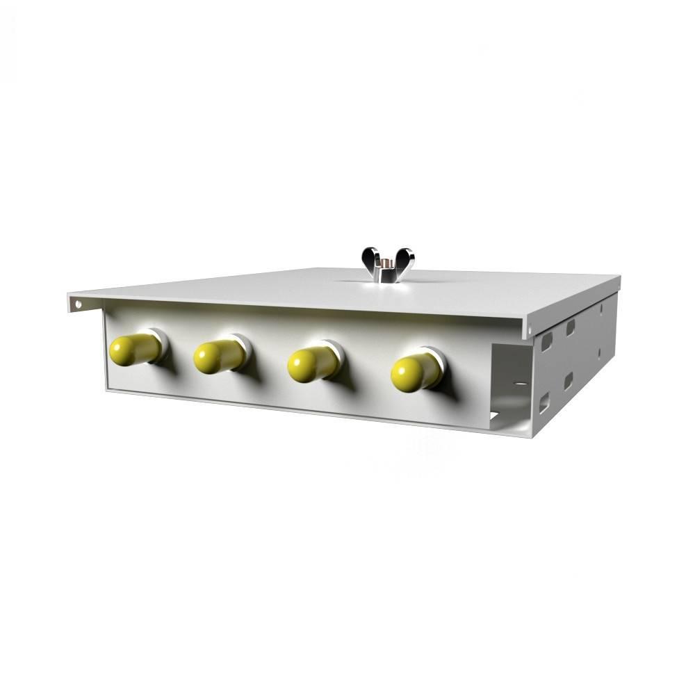 Кросс оптический настенный на 4 порта КН-М-У-4-ST-9/125 (микро)