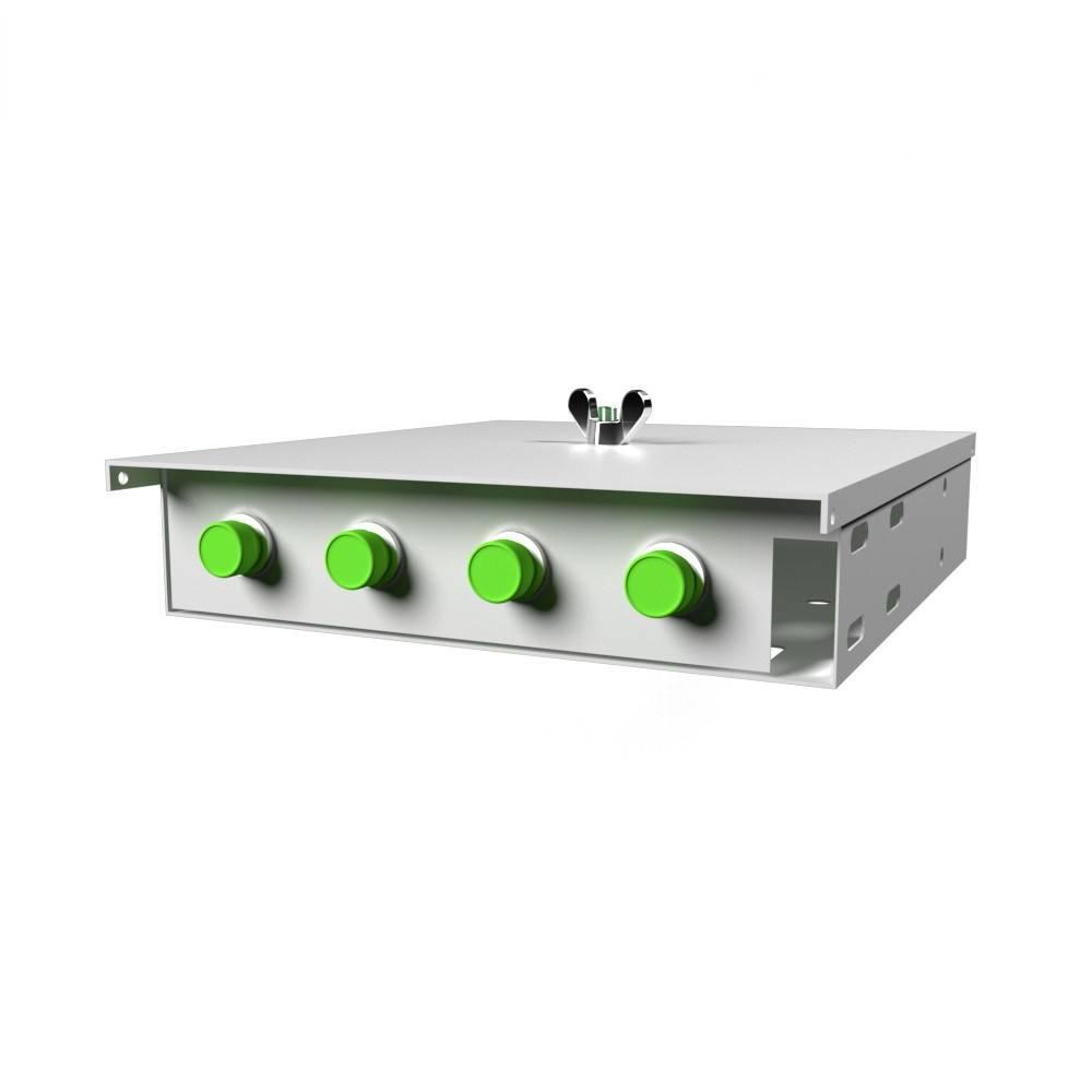 Кросс оптический настенный на 4 порта КН-М-У-4-FC/APC-9/125 (микро)