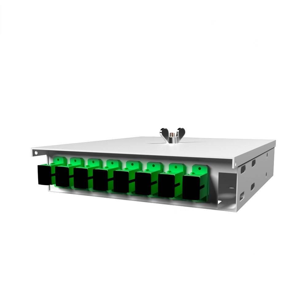 Кросс оптический настенный на 8 портов КН-М-У-8-SC/APC-9/125 (микро)