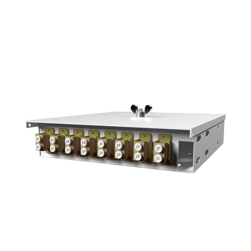 Кросс оптический настенный на 8 портов КН-М-У-8-2LC-62,5/125 (микро)
