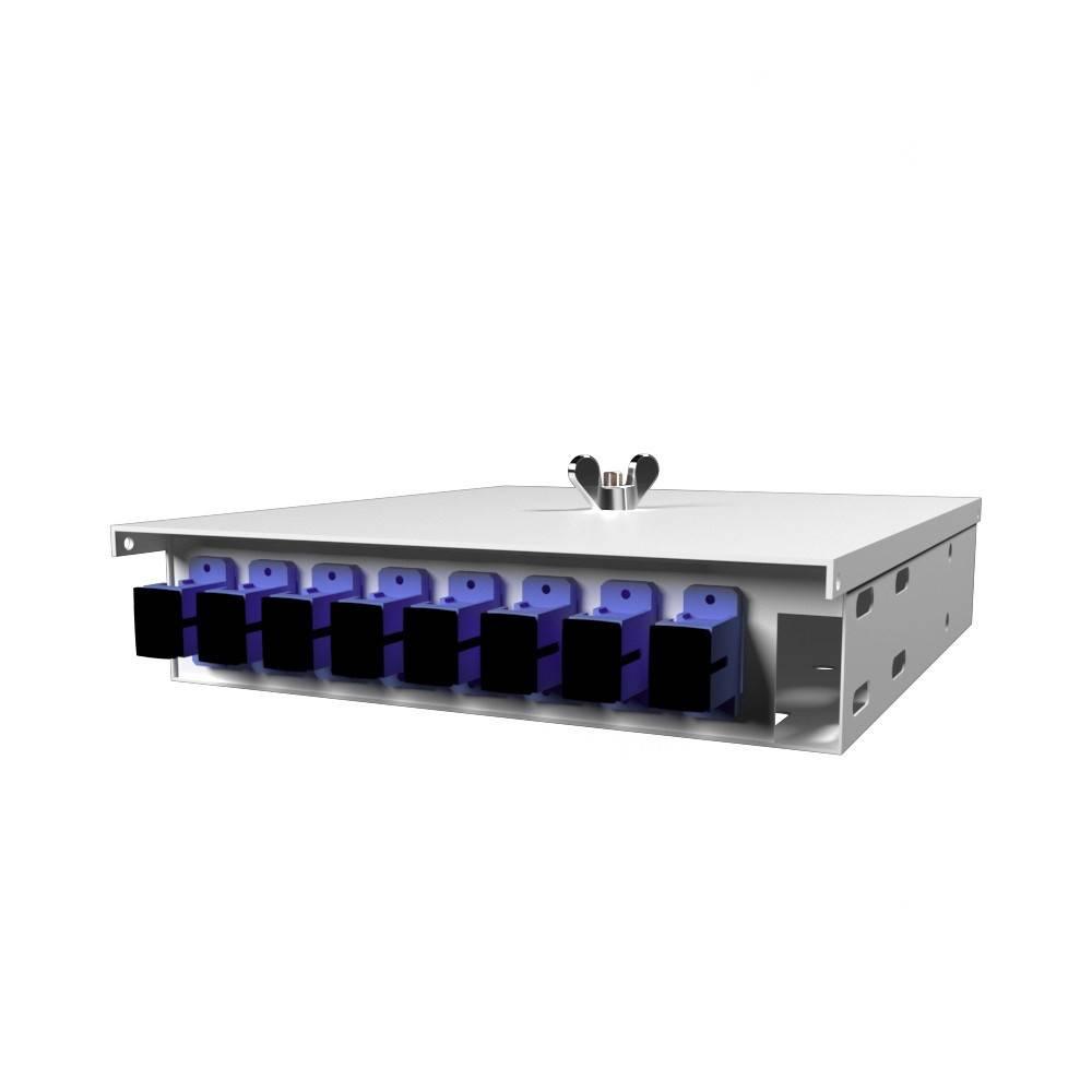 Кросс оптический настенный на 8 портов КН-М-У-8-SC-9/125 (микро)