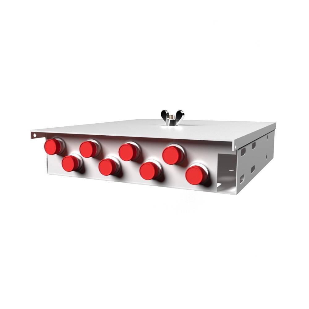 Кросс оптический настенный на 8 портов КН-М-У-8-FC-50/125 (микро)