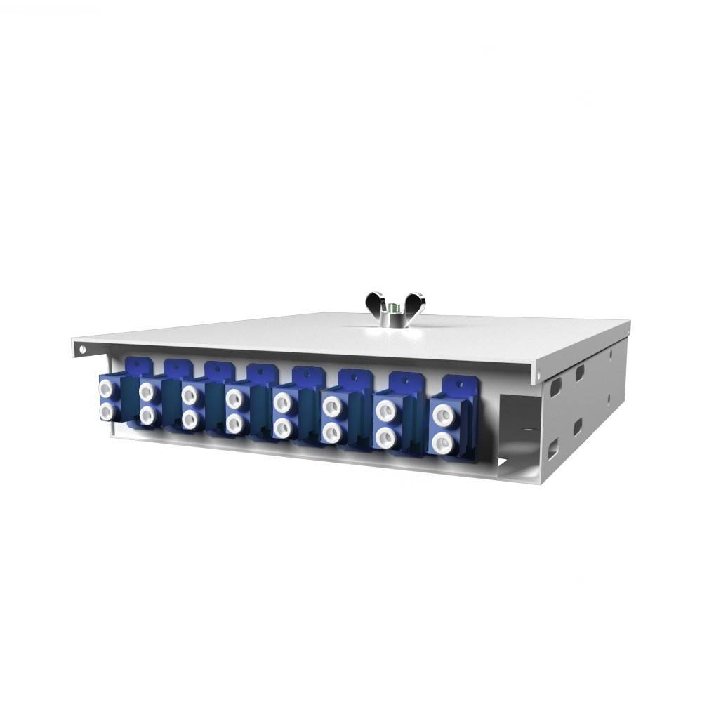 Кросс оптический настенный на 8 портов КН-М-У-8-2LC-9/125 (микро)