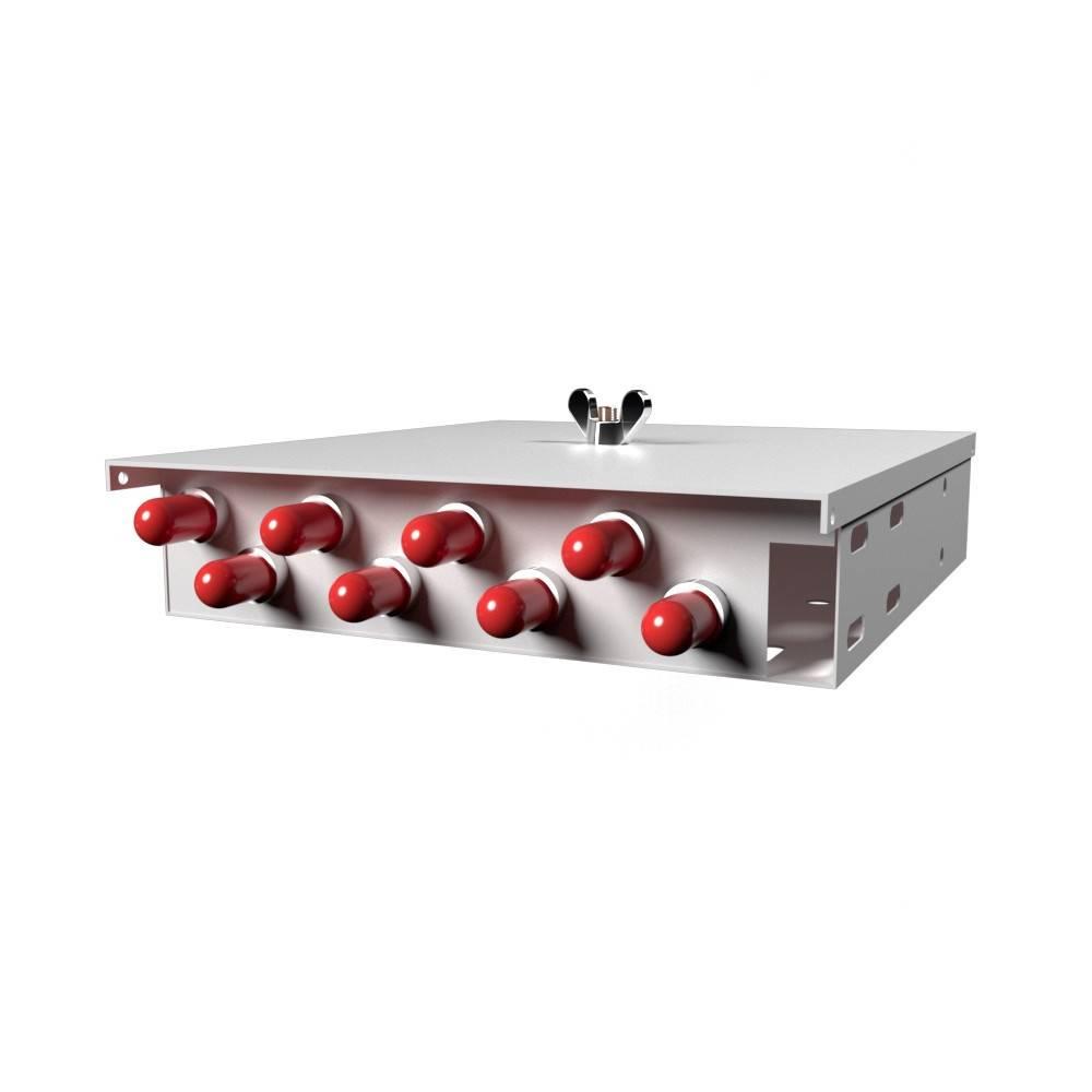 Кросс оптический настенный на 8 портов КН-М-У-8-ST-ОМ3-50/125 (микро)