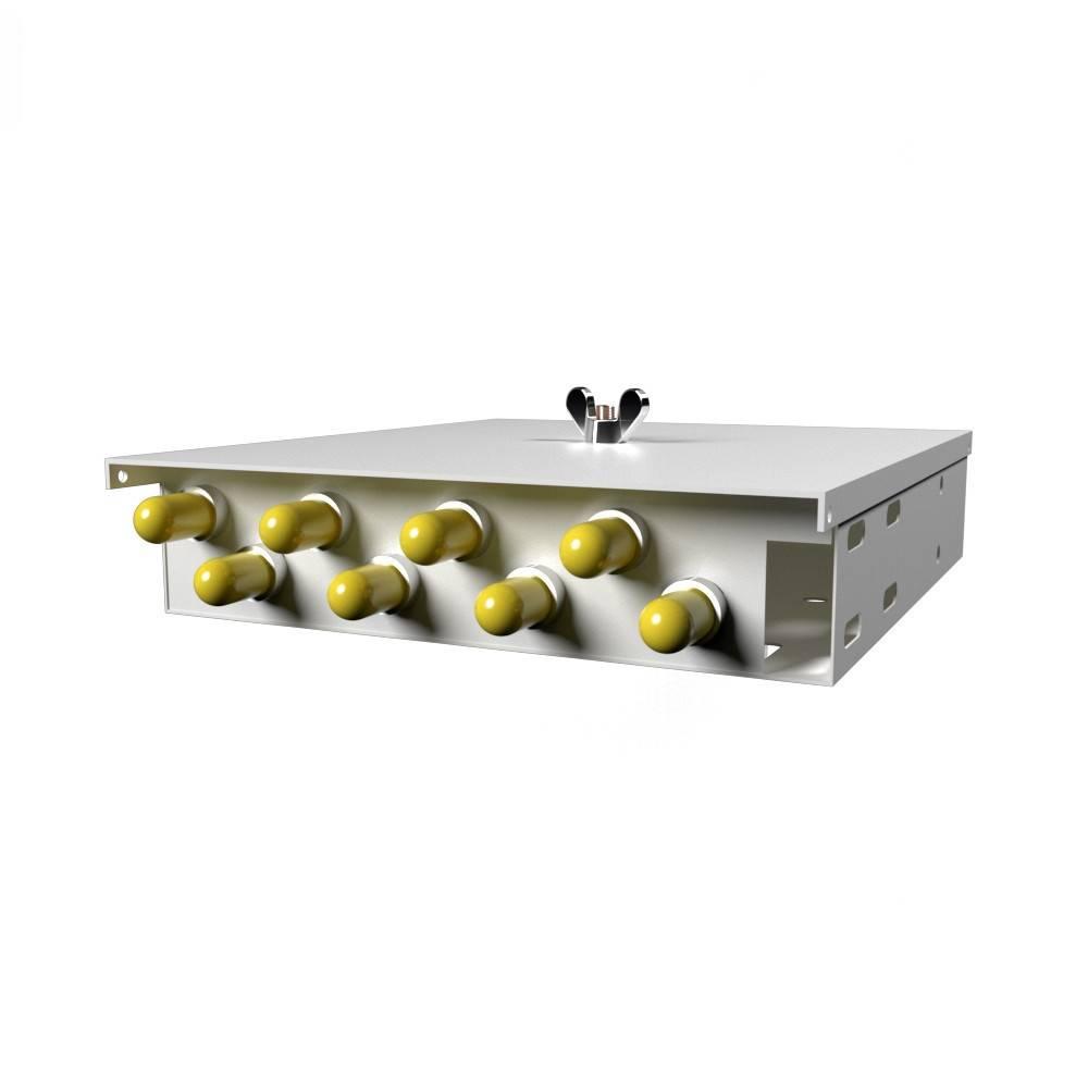 Кросс оптический настенный на 8 портов КН-М-У-8-ST-9/125 (микро)
