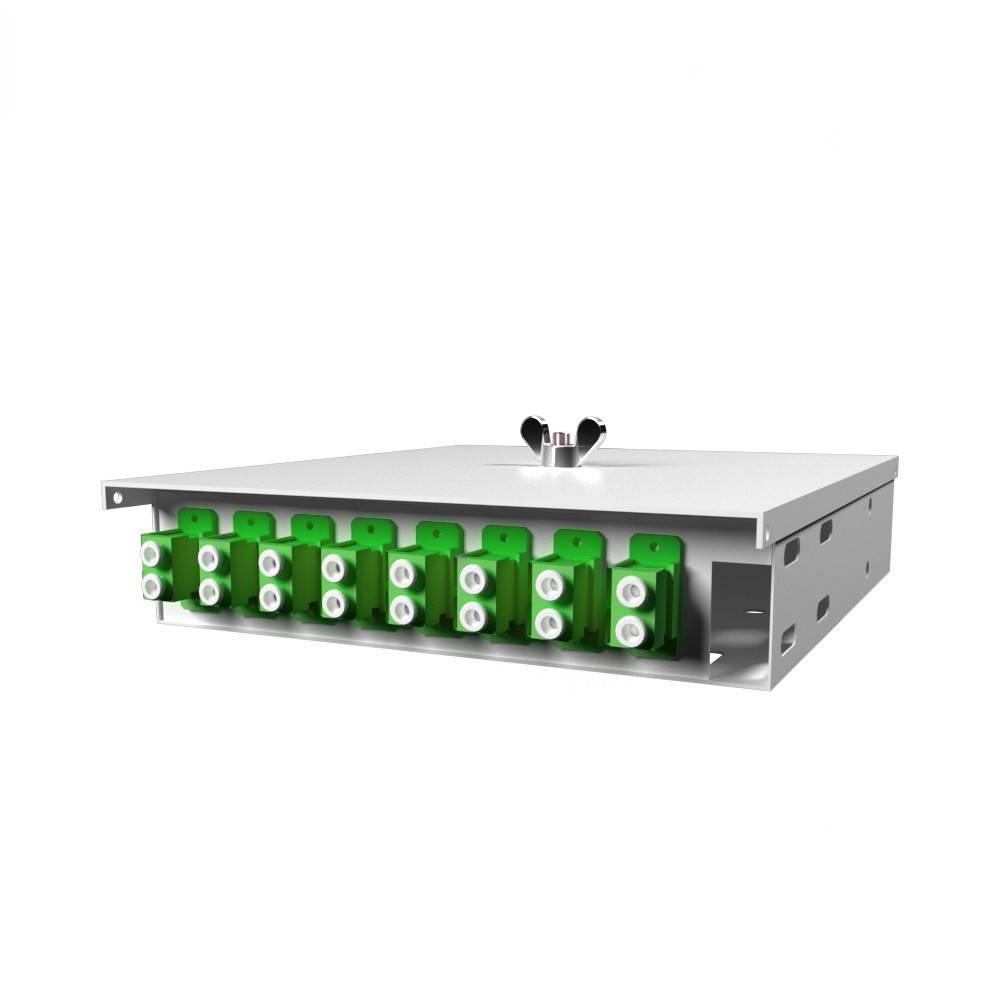 Кросс оптический настенный на 8 портов КН-М-У-8-2LC/APC-9/125 (микро)