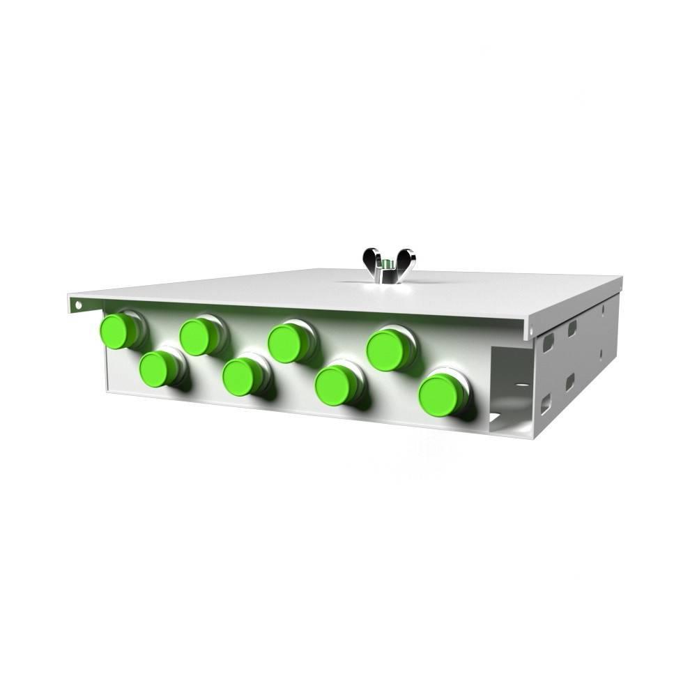 Кросс оптический настенный на 8 портов КН-М-У-8-FC/APC-9/125 (микро)
