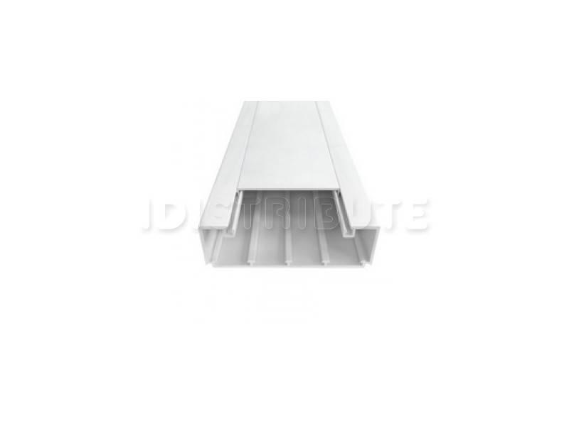 Кабель-канал Efapel Серия 10 110х34, без перегородок, с крышкой, 2 м, белый