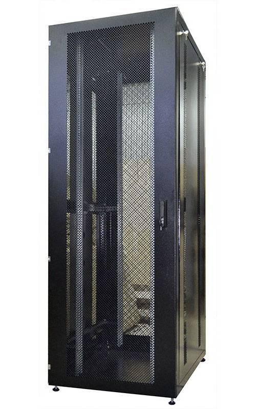 Шкаф телекоммуникационный напольный 19 дюймов OlmiOn ШТК-Н-42.8.10-4.9005