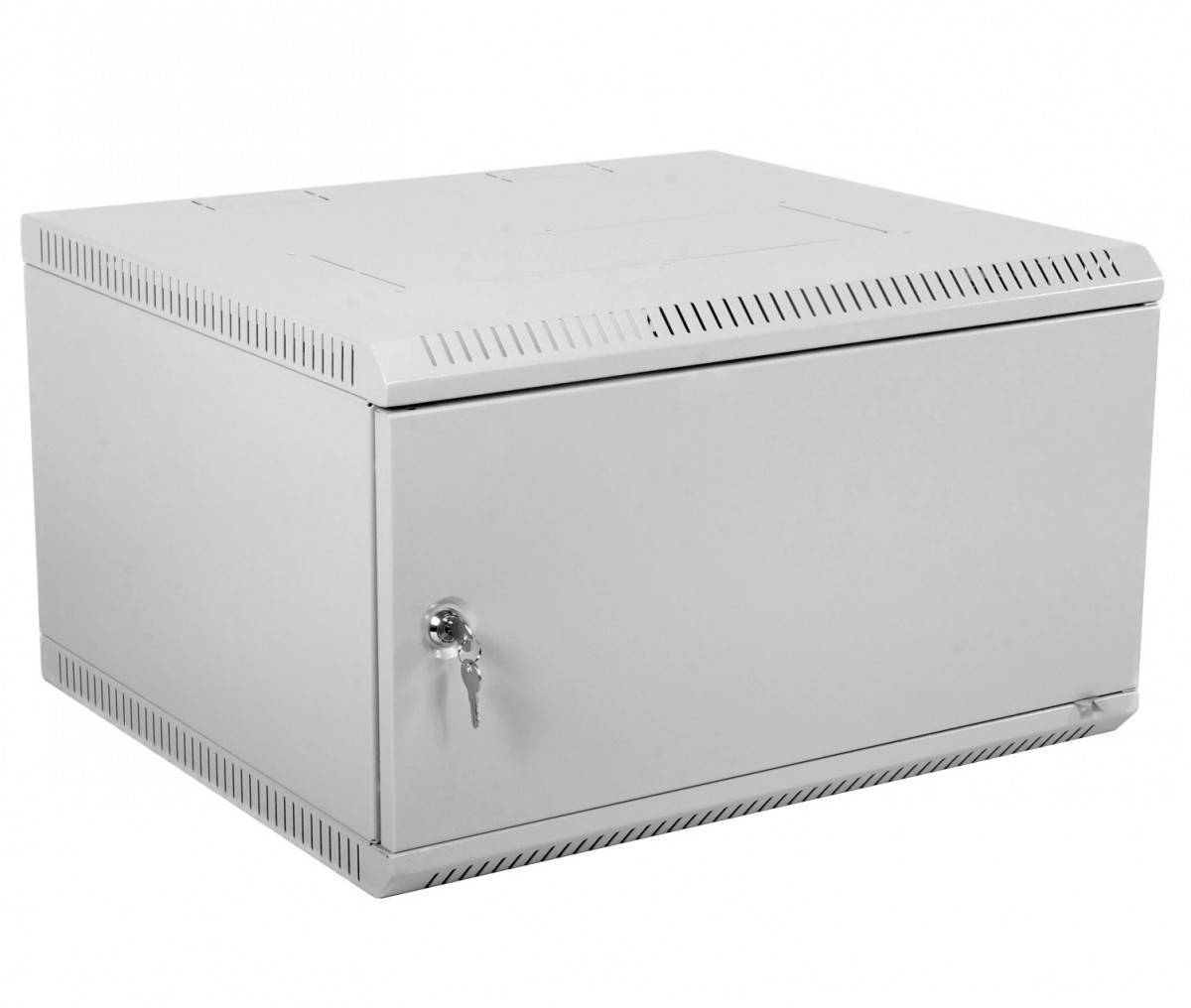 Шкаф телекоммуникационный 19 настенный 9U ЦМО ШРН-Э-9.350.1 дверь металл