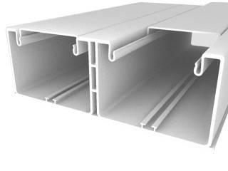 Кабель-канал Efapel Серия 16 185х65, перегородок: 1, с крышкой, 2 м, белый