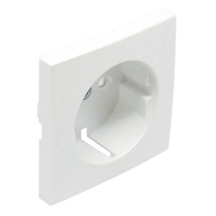 Лицевая панель розеточная Efapel Logus90, 1х 2к+З, плоская, шторки, цвет: белый (90632 TBR)